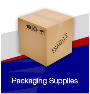 Packaging supplies flip front