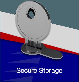 Secure storage flip front