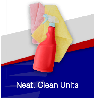 Neat, clean units flip front